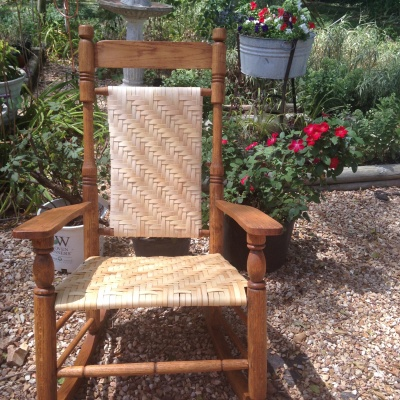 Porch Rocker Splint seat and back