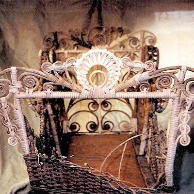 Victorian 1880's Wicker Baby Carriage