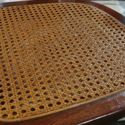Pressed Cane Seat Stained